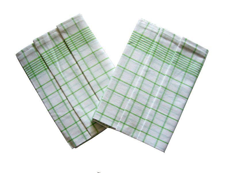 Od českého výrobce kvalitní utěrky Negativ bílá/zelená, Svitap