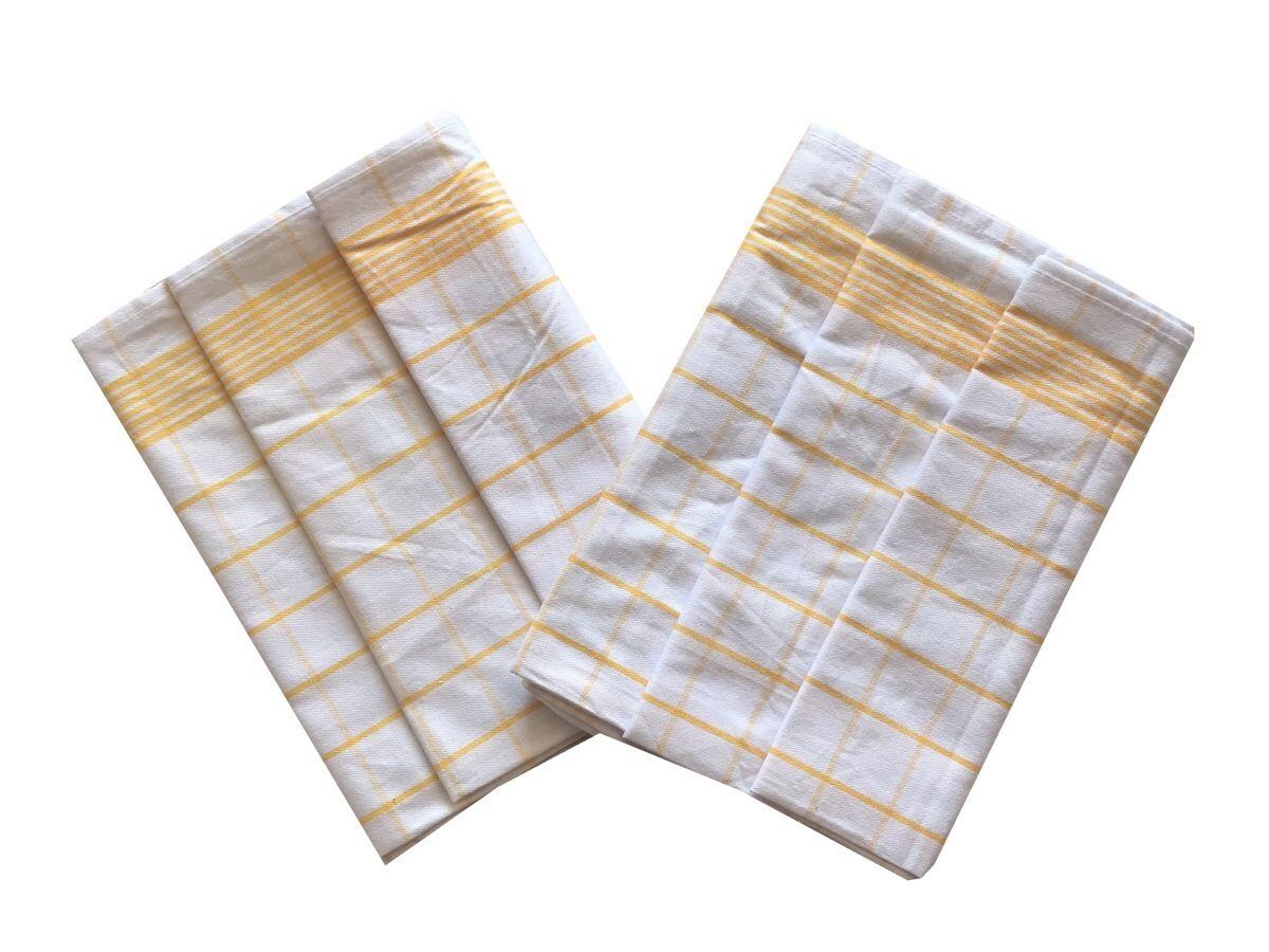 Utěrka Negativ Egyptská bavlna bílá/žlutá - 3 ks Svitap