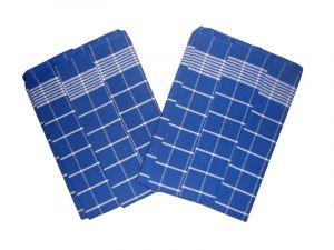 Utěrka Pozitiv Egypt.bavlna 50x70 - modrá/bílá - 3 ks
