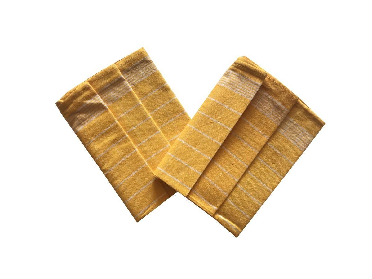 Utěrka Pozitiv Egyptská bavlna žlutá/bílá - 3 ks Svitap