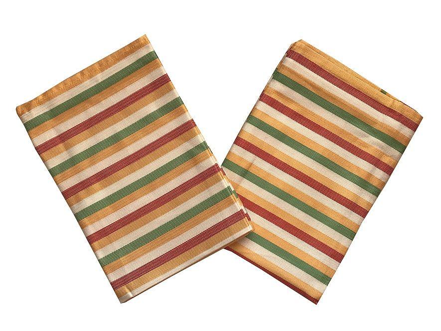 Se vzorem proužků kvalitní kuchyňské látkové utěrky z bambusu Pruh žlutý - 3 ks, Svitap