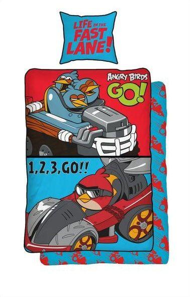 Dětské bavlněné ložní povlečení Angry birds GO!