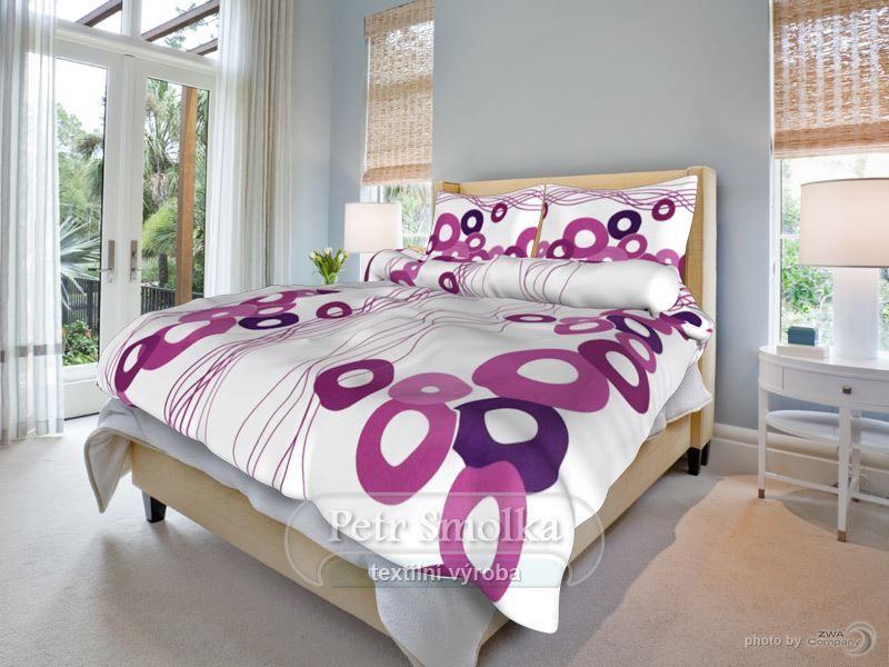 Gita fialová bavlněné ložní povlečení
