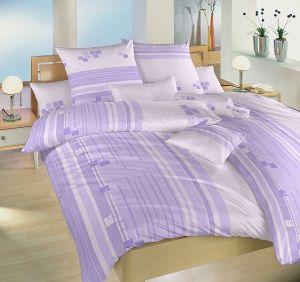 Kostky fialové bavlněné povlečení