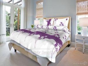 Květinka fialová bavlněné povlečení