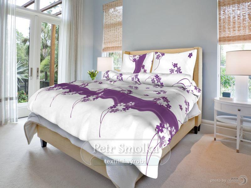 Květinka fialová bavlněné ložní povlečení
