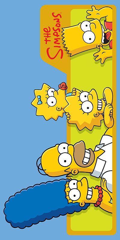 Dětská plážová osuška Simpsons - Family 75 x 150 cm