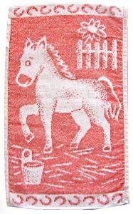 Dětský ručník - Koník červený