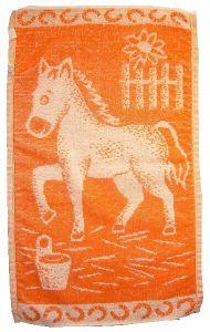 Dětský froté ručník - Koník oranžový, Frotex