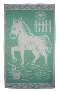 Dětský ručník - Koník světle zelený