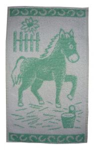 Dětský ručník Koník světle zelený, Frotex