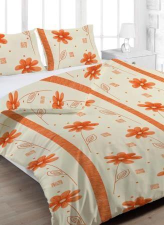 Anežka oranžová krepové ložní povlečení