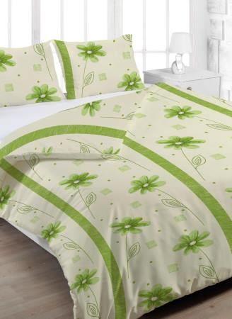 Pěkné krepové povlečení s jemným motivem květin Anežka zelená, Petr Smolka