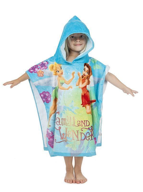 Pončo Motiv vil na dětském župánku Fairies 2014, přední díl