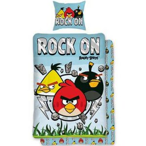 Bavlněné povlečení Angry birds Rock On