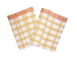 Utěrky Bambus - Kostka velká oranžová/žlutá - 3 ks