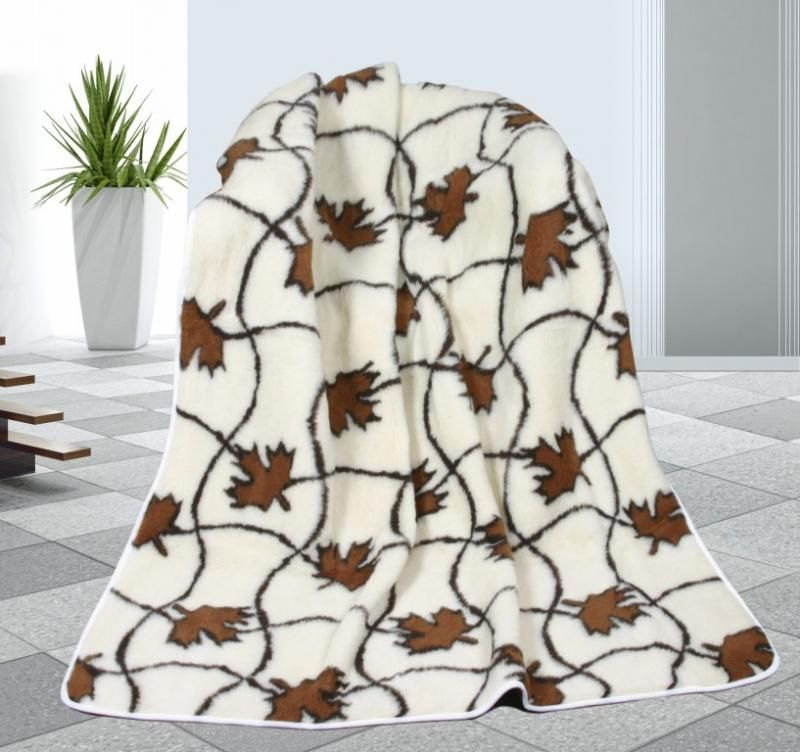 Vlněná deka DUO 155 x 200 cm svlačec - australské merino