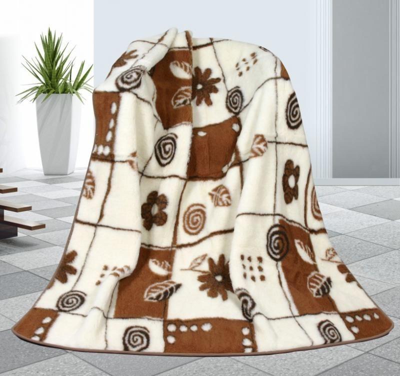 Vlněná deka 155 x 200 cm variace - evropské merino