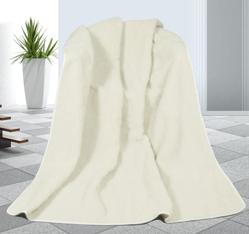 Vlněná deka DUO 155 x 200 cm bílý beránek - australské merino