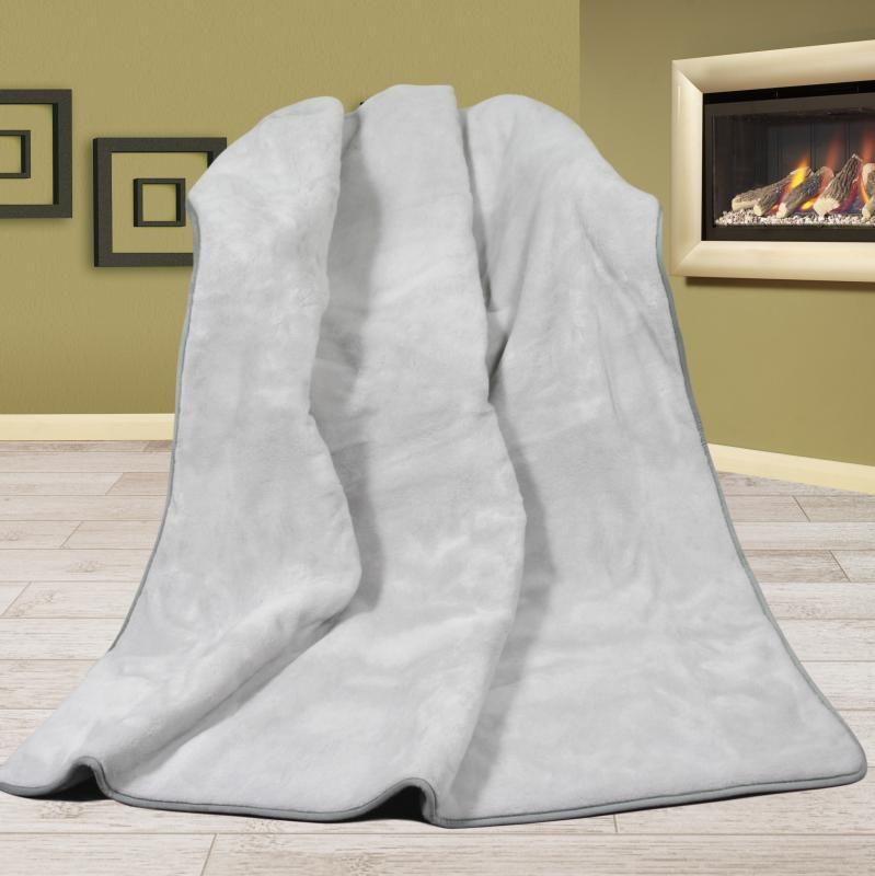 Vlněná DUO deka 155 x 200 cm šedá uni - Alpaka