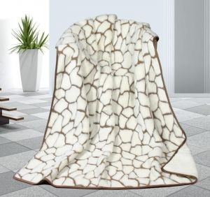 Vlněná DUO deka 155 x 200 cm kameny - Kašmír