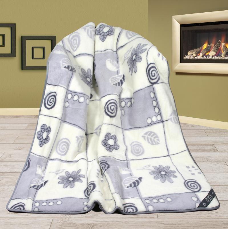 Vlněná DUO deka 155 x 200 cm patchwork  - Alpaka
