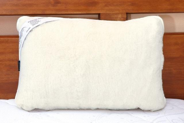 Vlněný polštář 40 x 60 cm bílý - australské merino