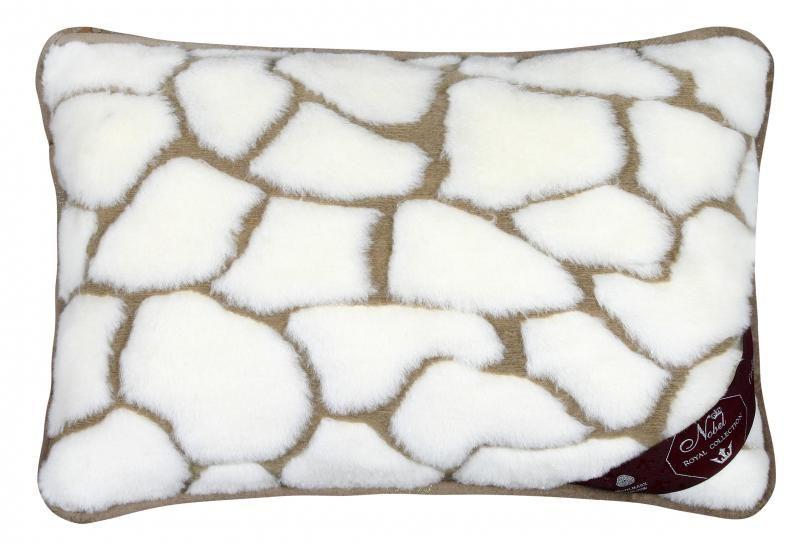 Vlněný polštář 40 x 60 cm kameny - Kašmír