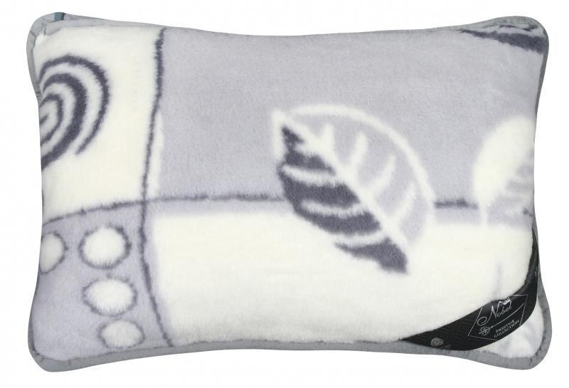 Vlněný polštář 40 x 60 cm patchwork  - Alpaka