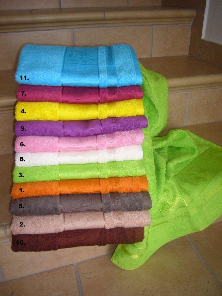 Luxusní bambusové ručníky a osušky Panda s vytkávanou bordurou, Jerry Fabrics