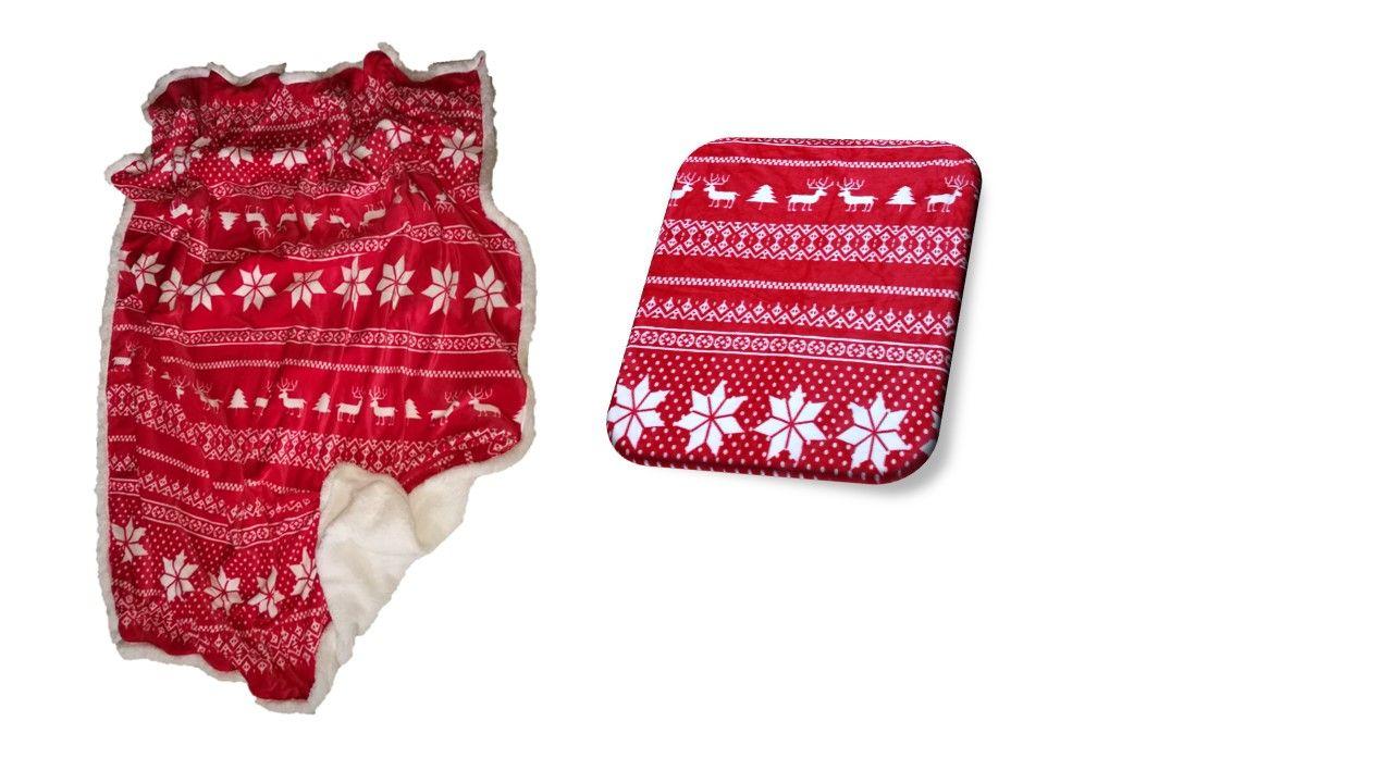 Do červené barvy laděna kvalitní deka beránek Winter red, Jahu