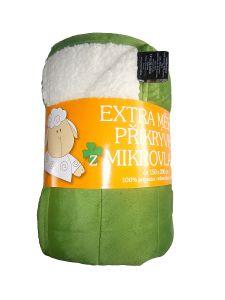 Deka mikrovlákno - Deka Ovečka zelená/bílá