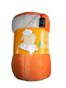 Deka mikrovlákno Deka Ovečka oranžová/bílá