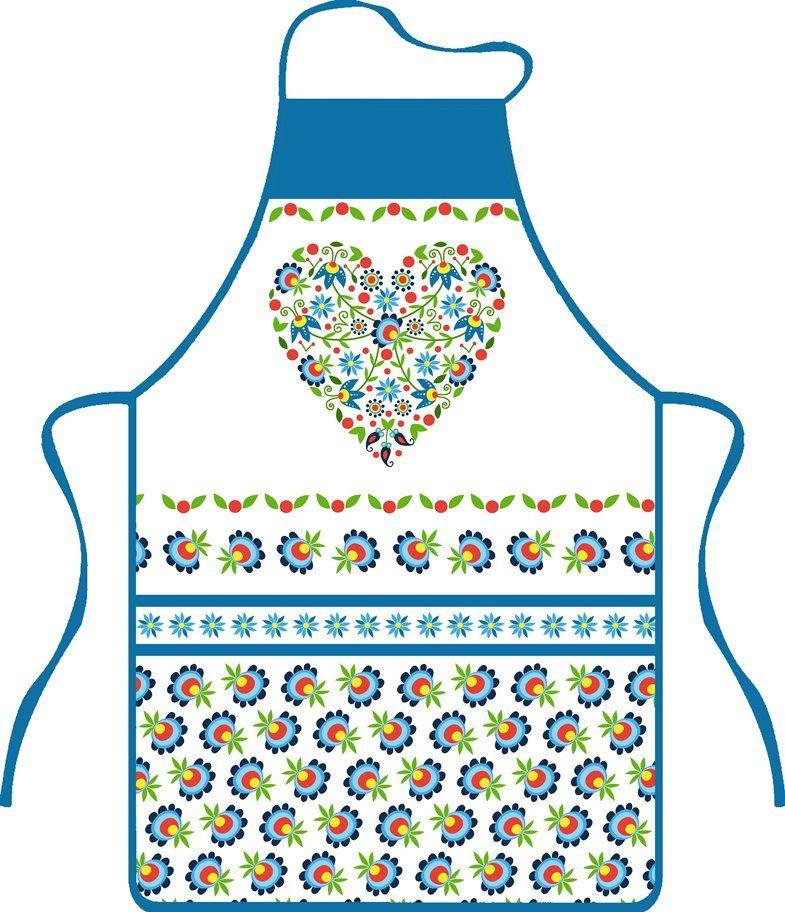 Kuchyňská zástěra Srdce Praktik
