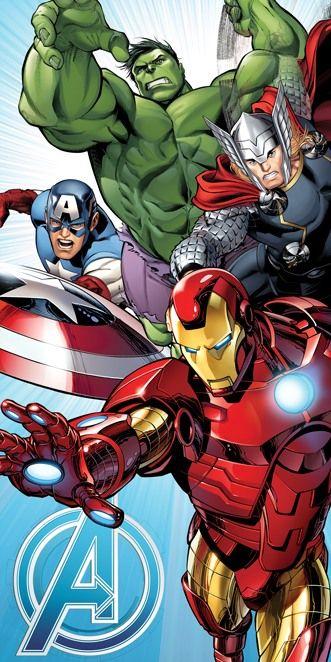 Bavlněná dětská osuška s oblíbeným motivem hrdinů Avengers, Jerry Fabrics