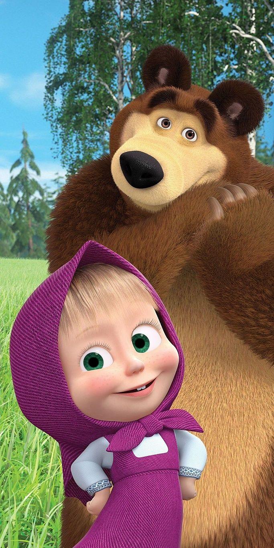 Bavlněná osuška pro děti Máša a Medvěd 70x140 cm Jerry Fabrics