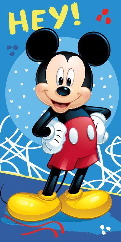 Modrá osuška pro děti s motivem Mickey 043 Jerry Fabrics