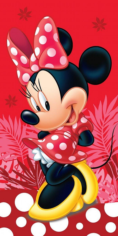 Dětská plážová osuška pro holčičky Minnie Red Spot, Jerry Fabrics