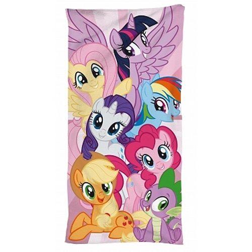 Animované poníci na dětské bavlněné osušce My little Pony 095, Jerry Fabrics