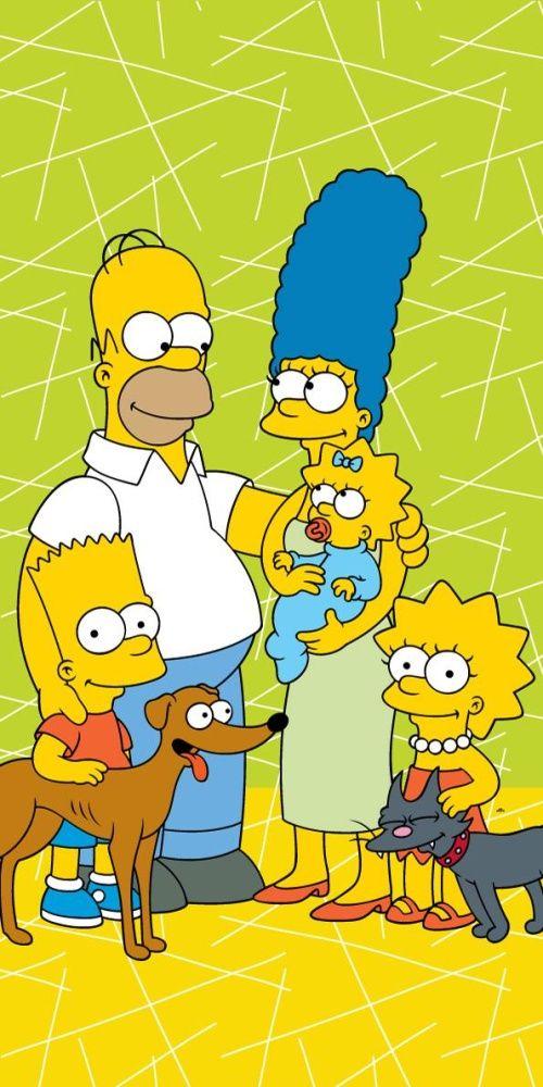 Osuška Simpsons family green 02 Jerry Fabrics