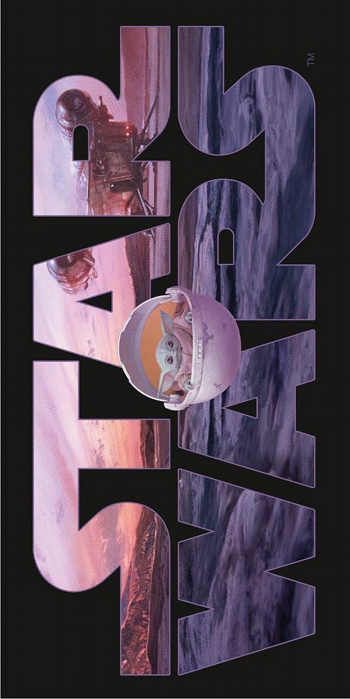 Plážová osuška Star Wars Mandalorian 70x140 cm Jerry Fabrics