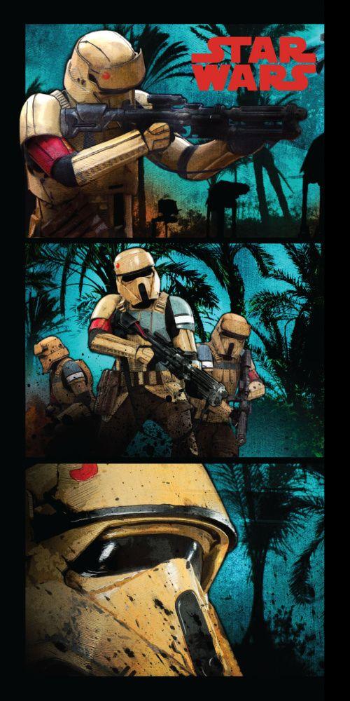Vojáci na plážové dětské osušce Star wars Stormtroopers, Jerry Fabrics
