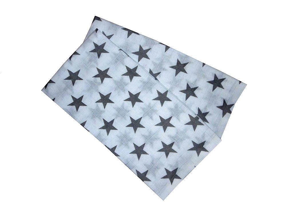 S motivem hvězdiček kvalitní dětské látkové pleny Šedá hvězda (balení 5 ks), PREM INTERNACIONAL