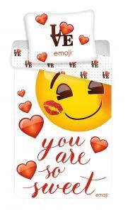 """Bavlněné povlečení Emoji """"You are so sweet"""""""