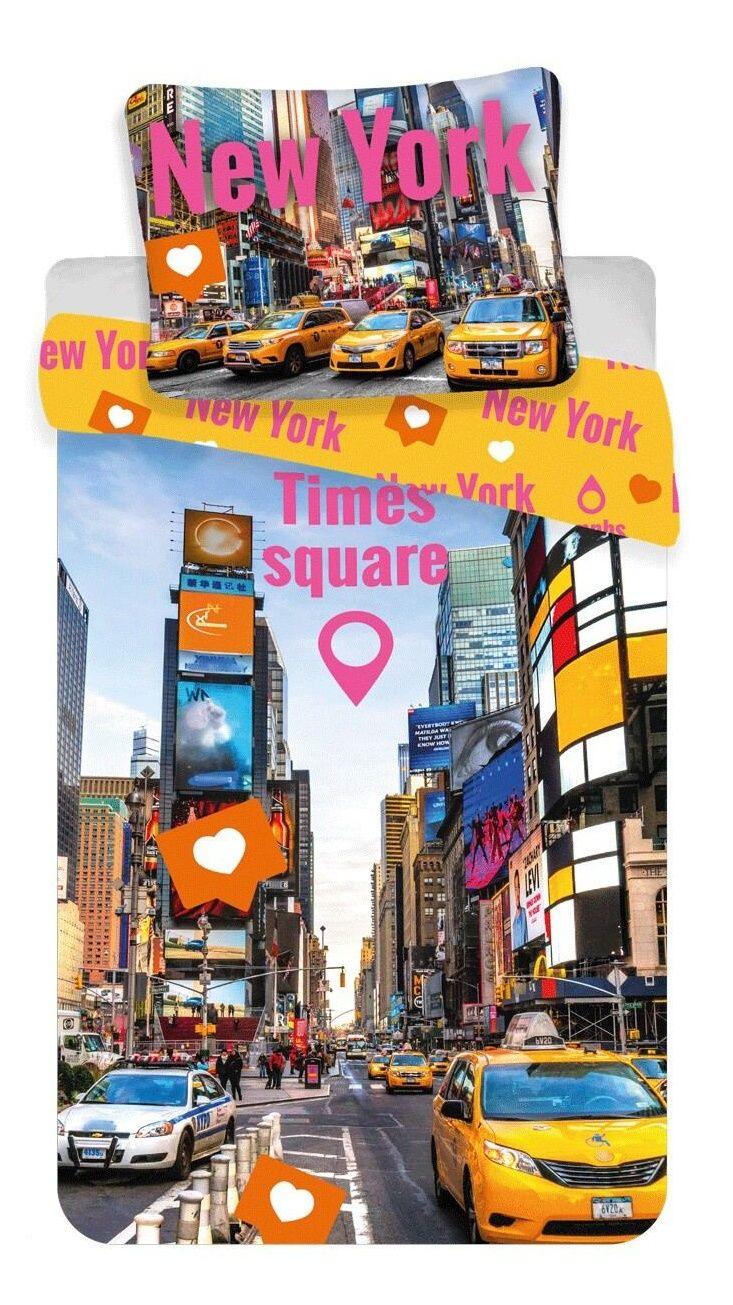 Oboustranné kvalitní bavlněné ložní povlečení fototisk Times Square, Jerry Fabrics