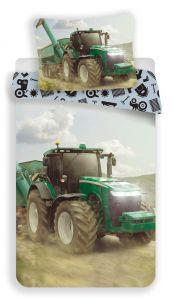 Povlečení fototisk Traktor green