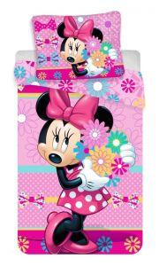 """Bavlněné povlečení Minnie """"bows and flowers"""""""