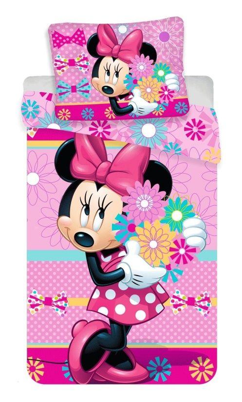 """Dětské bavlněné ložní povlečení Minnie """"bows and flowers"""", Jerry Fabrics"""