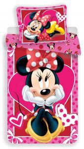 Bavlněné povlečení Minnie hearts 02