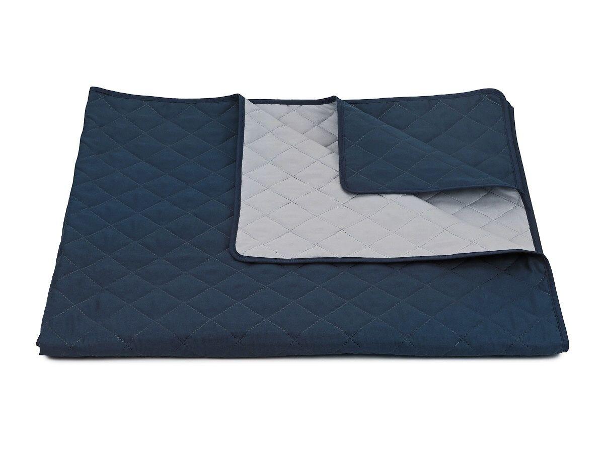 Přehoz na postel Ultra 52R-66-390 tmavě modrá/světle šedá, Dadka